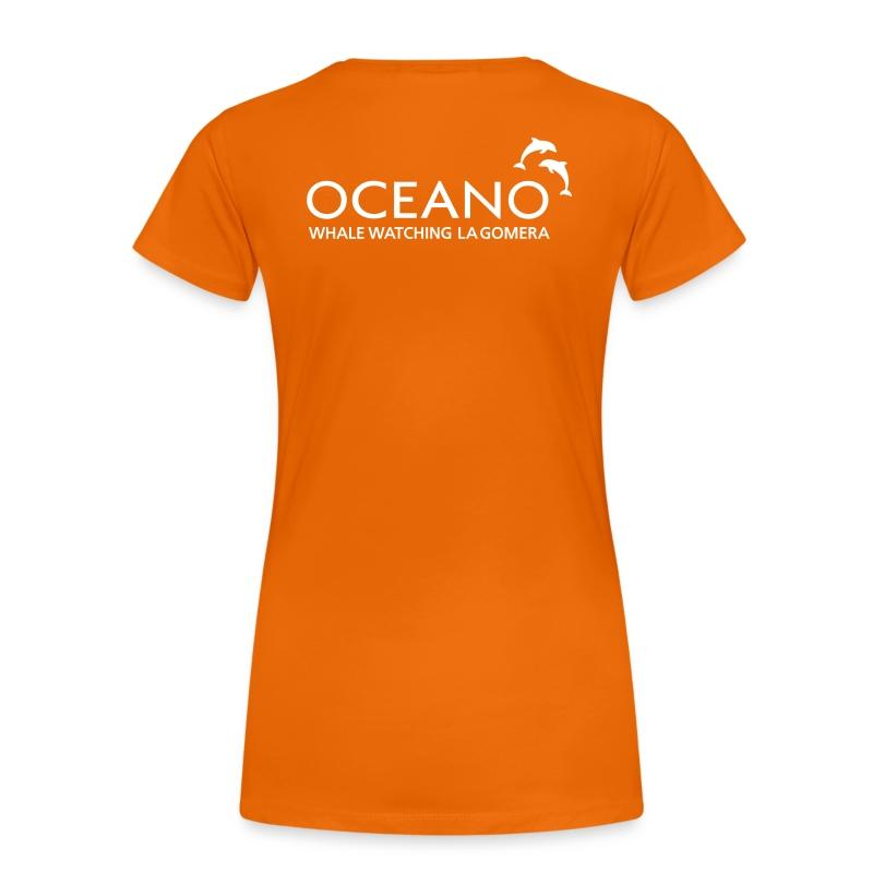 OCEANO Shirt Streifendelfin - Frauen Premium T-Shirt