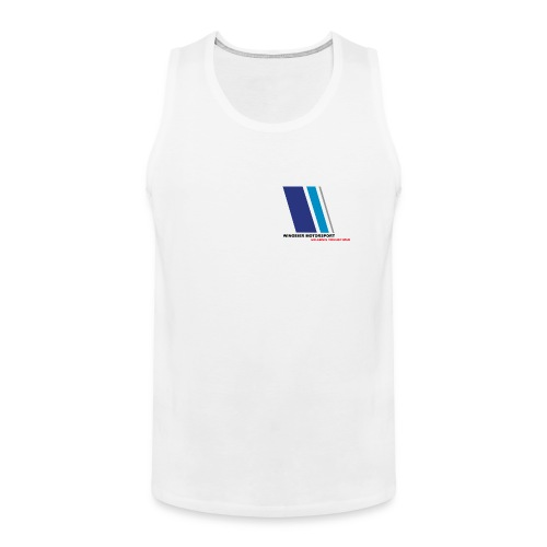 High Performance Shirt (Ärmellos) by WINGEIER MOTORSPORT Standard weiss - Männer Premium Tank Top