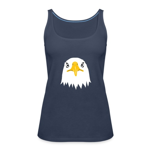 adler eagle adlerauge weßkopf seeadler vogel adlerkopf  T-Shirts - Frauen Premium Tank Top