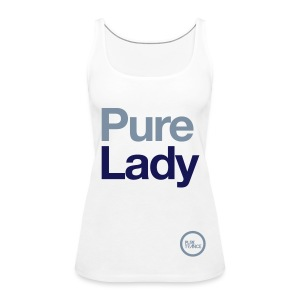 Pure Lady (Navy/Silver Metallic) [Female] - Women's Premium Tank Top