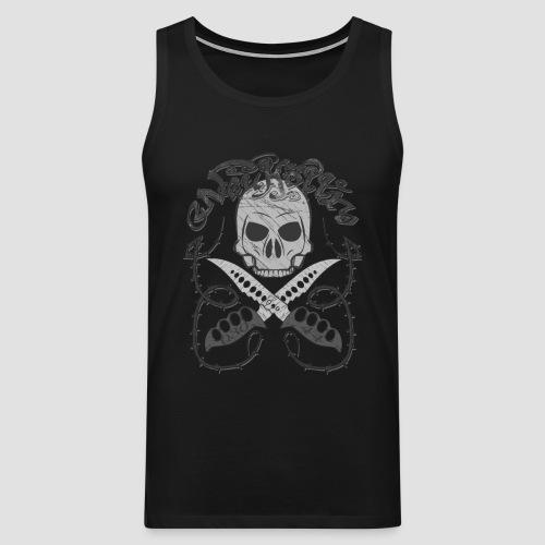 Neukölln 44 Skull Logo - Männer Premium Tank Top