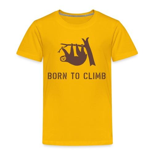 klettern climbing born to climb faultier bouldern t-shirt - Kinder Premium T-Shirt