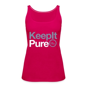 Keep It Pure Silver Metallic /White [Female] - Women's Premium Tank Top