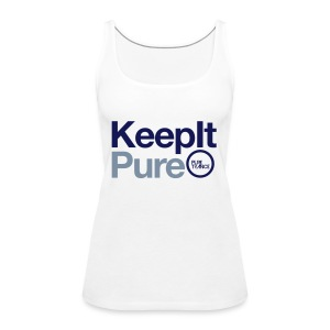 Keep It Pure Navy Blue / Silver Metallic [Female] - Women's Premium Tank Top