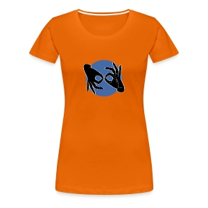 Deaf Interpreter black / blue - Frauen Premium T-Shirt