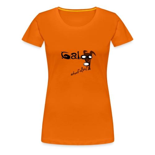 Galgo -  what else? - Frauen Premium T-Shirt