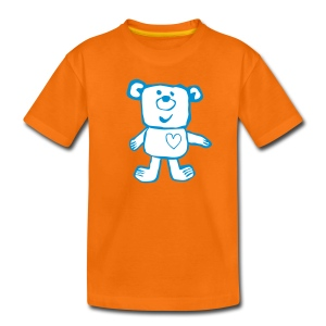A Friendly bear - white and blue - Kids' Premium T-Shirt