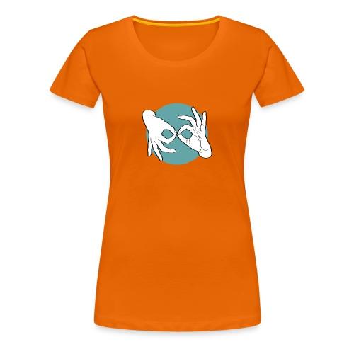 Deaf Interpreter white / green - Frauen Premium T-Shirt