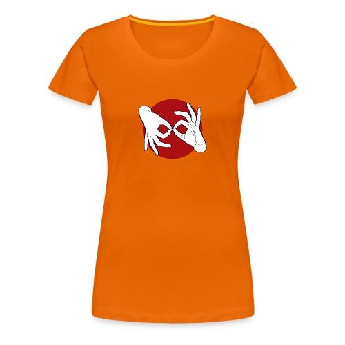 Deaf Interpreter white / red - Frauen Premium T-Shirt