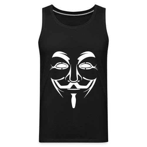 Männer Muskelshirt (Anonymous) - Männer Premium Tank Top