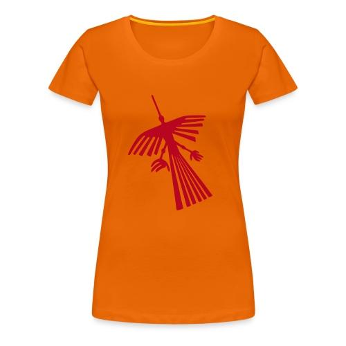 Nazca Kondor, rot - Frauen Premium T-Shirt