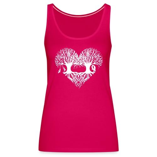 valentinstag herz liebe baum paar wurzeln schaukel T-Shirts - Frauen Premium Tank Top