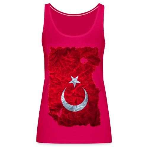 Türkei Flagge TankTop vintage used look - Frauen Premium Tank Top