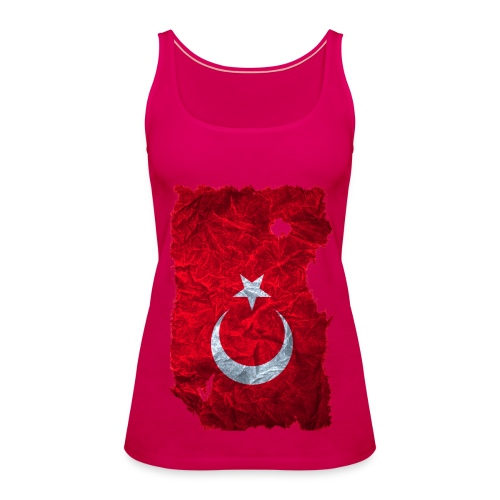 Türkei Flagge Spaghettitop vintage used look - Frauen Premium Tank Top