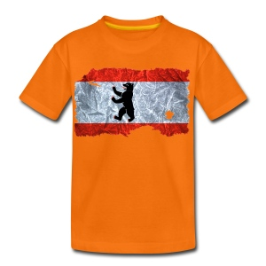 Berlin Flagge Shirt vintage used look - Kinder Premium T-Shirt
