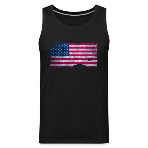 USA Flagge Muskelshirt vintage used look - Männer Premium Tank Top