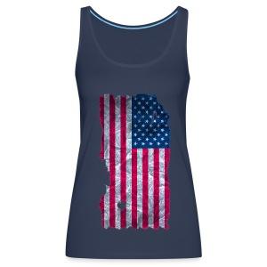 USA Flagge Top vintage used look - Frauen Premium Tank Top