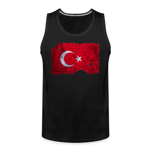 Türkei Flagge Muskelshirt vintage used look - Männer Premium Tank Top
