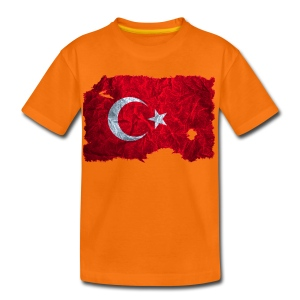 Türkei Flagge shirt vintage used look - Kinder Premium T-Shirt