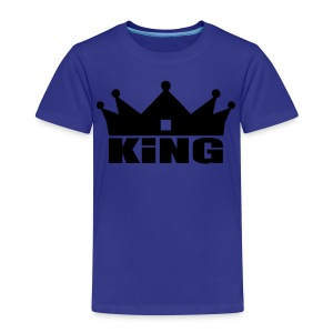 King Junior garçon noir/orange doré - T-shirt Premium Enfant