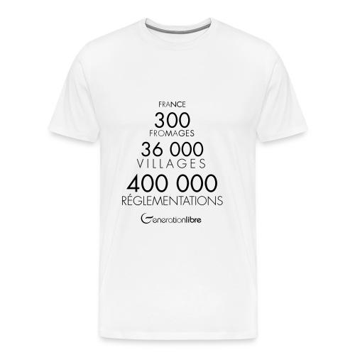 France... 400 000 réglementations ! - T-shirt Premium Homme