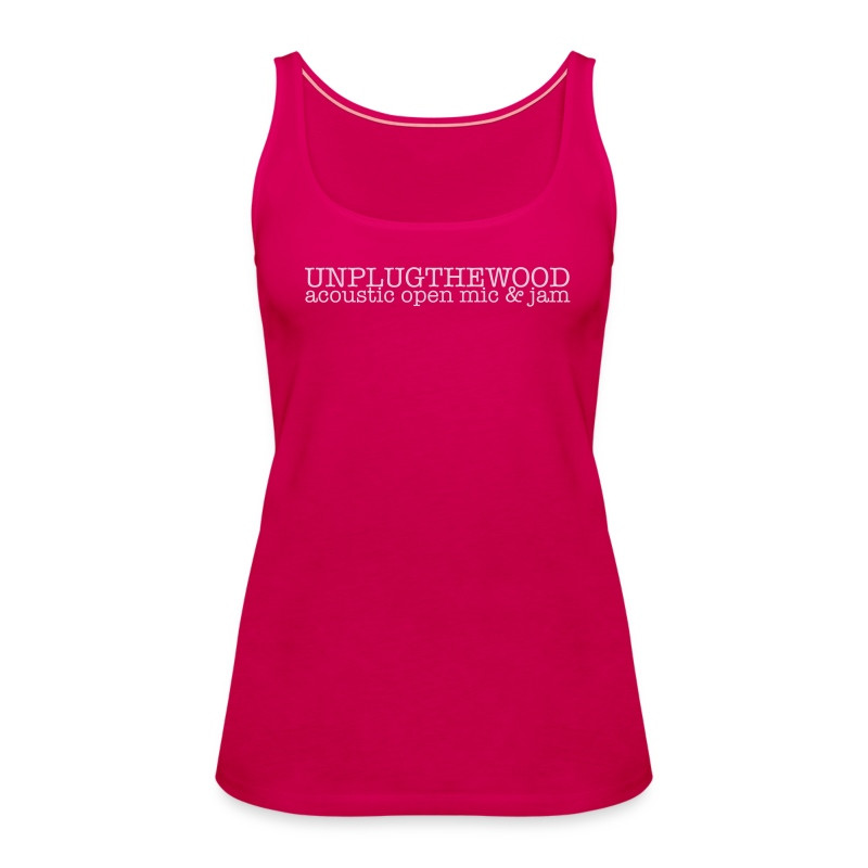 Unplug The Wood Top - ladies 2 - Women's Premium Tank Top