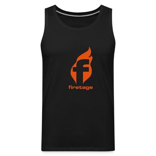 firetage Logo Tank - Männer Premium Tank Top