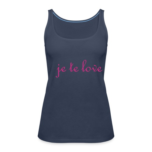 je te love - Frauen Premium Tank Top