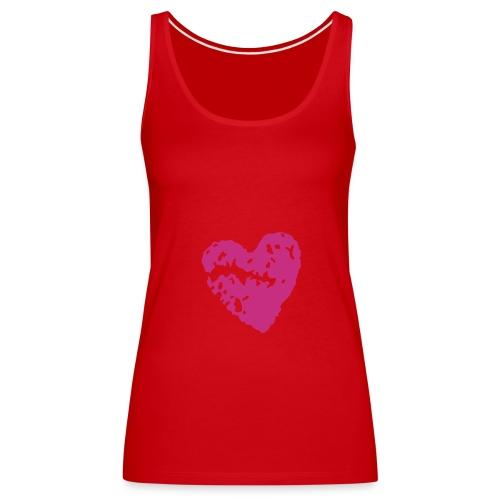 Pink Heart - Women's Premium Tank Top