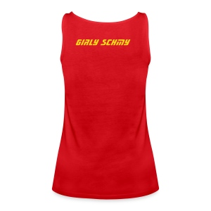 Girly Schmy Vest Red - Women's Premium Tank Top