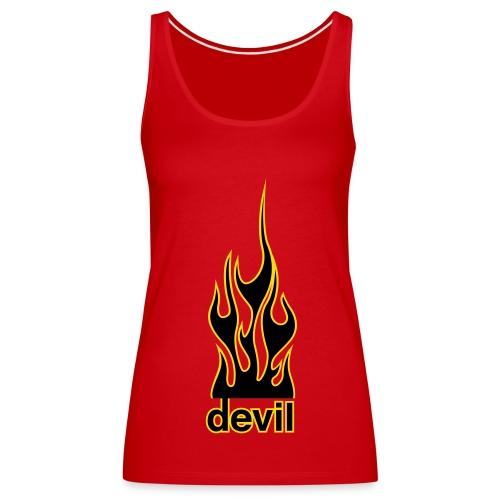 Spaghetti Top Devil Gold/Gelb - Frauen Premium Tank Top