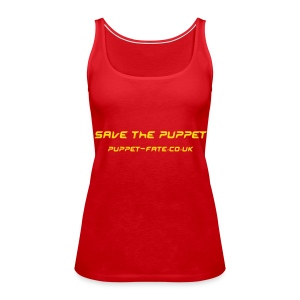 Save the Puppet Red Spaghetti Top - Women's Premium Tank Top