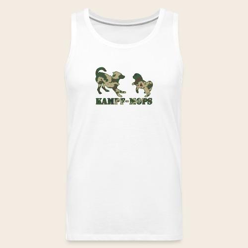 Männer Kampf-Mops Shirt - Männer Premium Tank Top