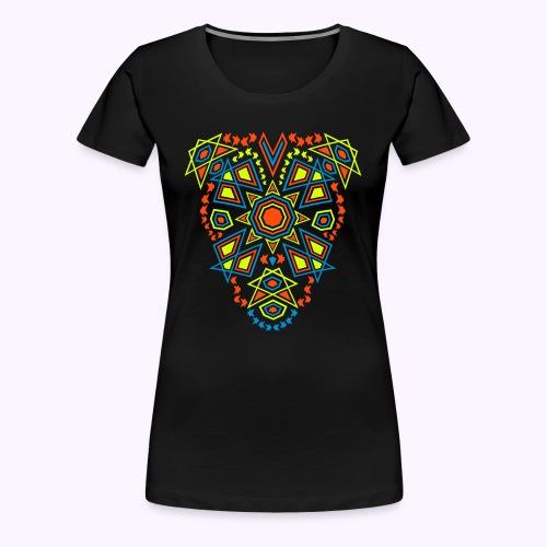 Tribal Sun 2-side Print - Premium Girlie Shirt - Dame premium T-shirt