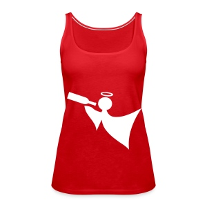 Red and White strap top - Women's Premium Tank Top