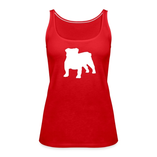 Silhouette Bulldog - Débardeur Premium Femme
