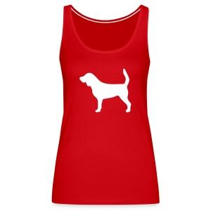 Silhouette Beagle - Débardeur Premium Femme