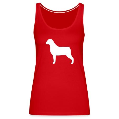Silhouette Rottweiler - Débardeur Premium Femme