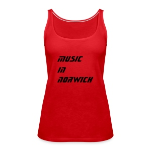 music in norwich ladies top red - Women's Premium Tank Top