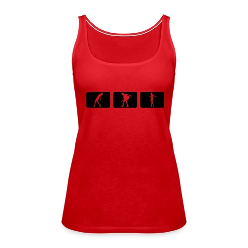 Red-Black - Tank top damski Premium
