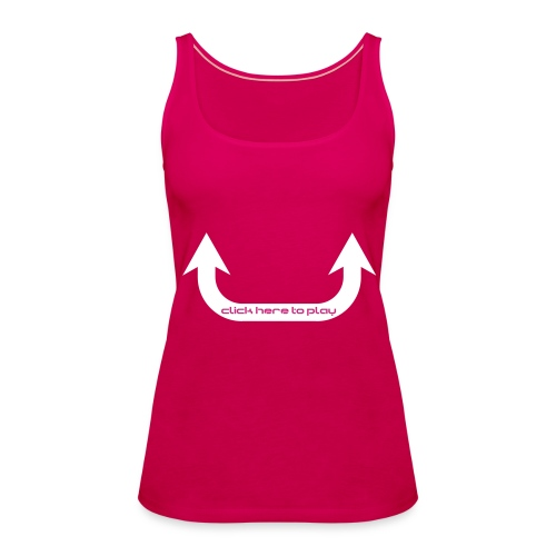Girl Fun: ClickHere - Frauen Premium Tank Top
