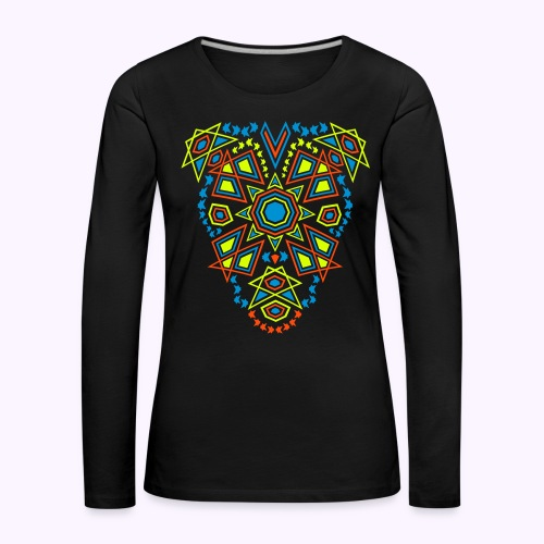 Tribal Sun 2-Side Print Women's Long Sleeve - Dame premium T-shirt med lange ærmer