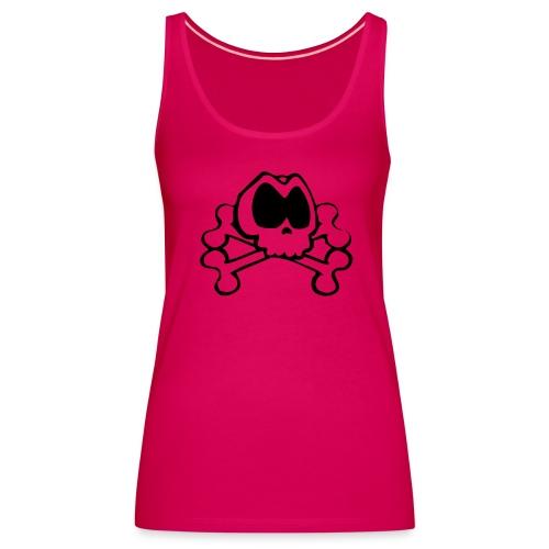 Camiseta Chica Skull Hot Pink - Camiseta de tirantes premium mujer