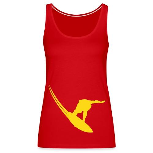 Surfer spaghetti vest - Women's Premium Tank Top