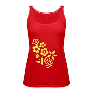 Red Flowers - Frauen Premium Tank Top