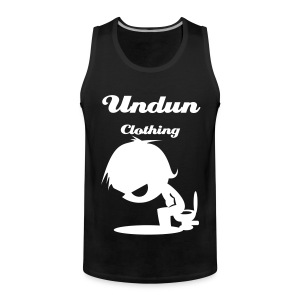 Cartoon creature on toilet Vest - Men's Premium Tank Top