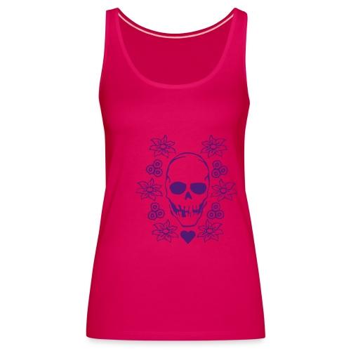 Girls flowers 'n bones - Frauen Premium Tank Top