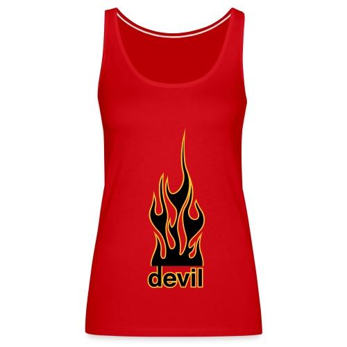 Devil Flame (1 Druck) - Frauen Premium Tank Top