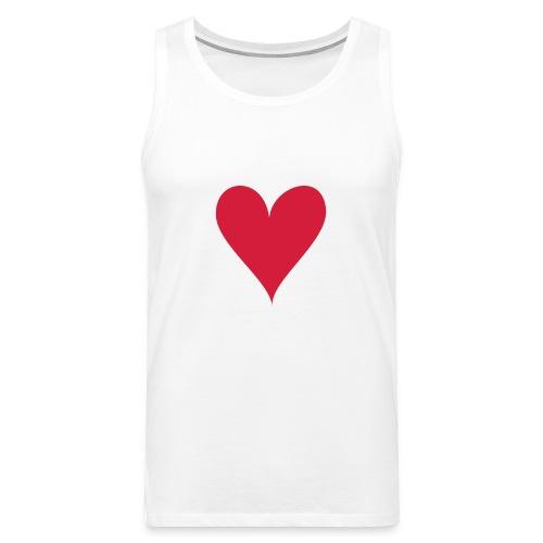 ACE OF HEARTS - Miesten premium hihaton paita