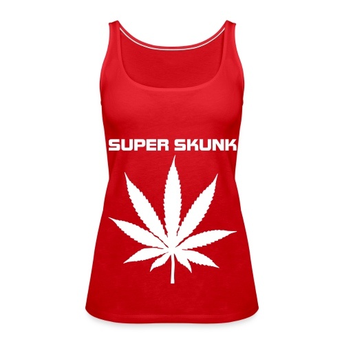 Red SUPER SKUNK Girls Spagetti top - Women's Premium Tank Top